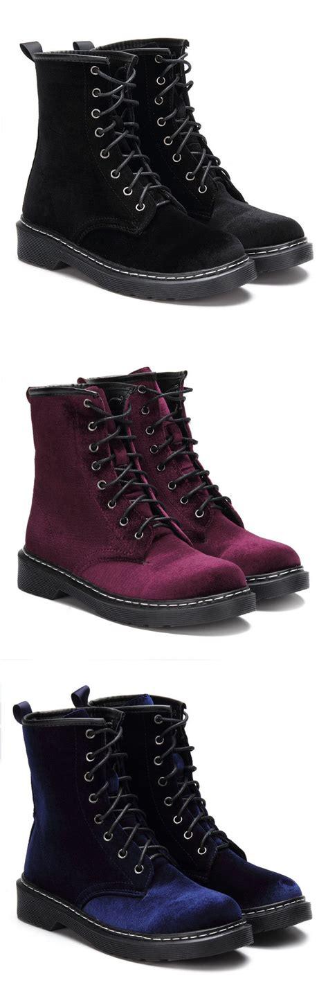 Lace Up Velvet Shorts burgundy velvet lace up design boots boots