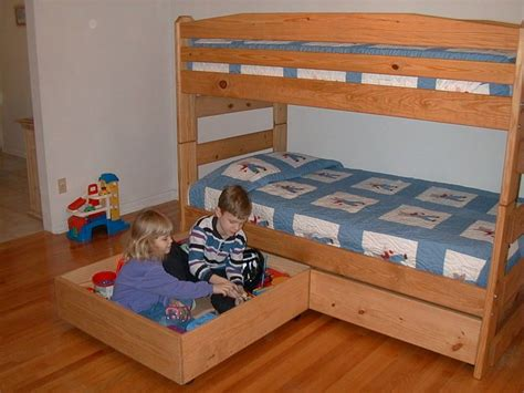 Sturdy Bunk Bed Plans Free Plans For These Two Storage Drawers Sturdy Enough For Your To Play In Free
