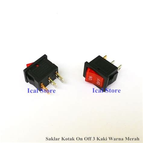 Saklar Switch On Kotak Besar Hijau 4 Pin saklar on kotak 3 kaki merah ical store ical store