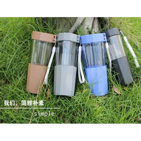 Botol Minum Cup Unbreakable Bottle 320ml botol minum plastic cup leakproof bottle 410ml blue jakartanotebook
