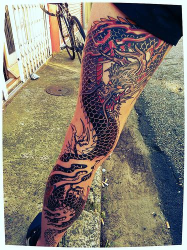 tattoo dragon leg dragon tattoo over the leg best tattoo design ideas