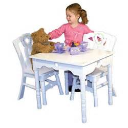 kid s table and chair set by and doug