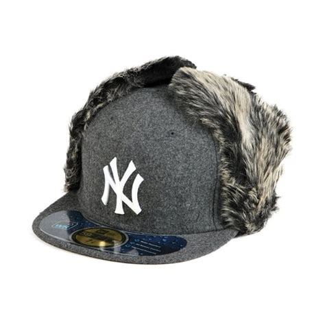 dogs ears cold new era knock cold ear ny yankees grey 31 50 caps hats true fitted