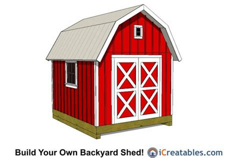 10x12 Gambrel Shed by 10x12 Shed Plans Building Your Own Storage Shed Icreatables