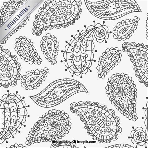 paisley pattern ai free hand drawn paisley pattern vector free download
