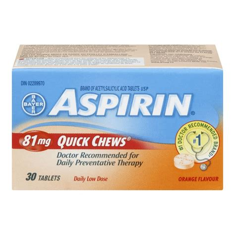 aspirin dosage buy aspirin daily low dose 81 mg chews orange flavour 30 tablets from value valet