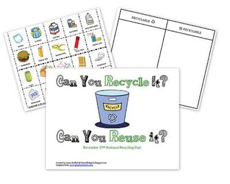 kindergarten activities recycling earth day recycling preschool lesson plan pinned by