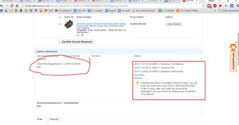 aliexpress package tracking tutorial china post epacket