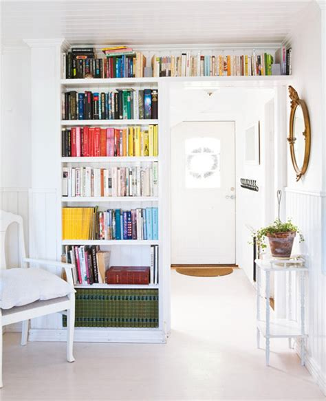 bookshelves around door katy elliott