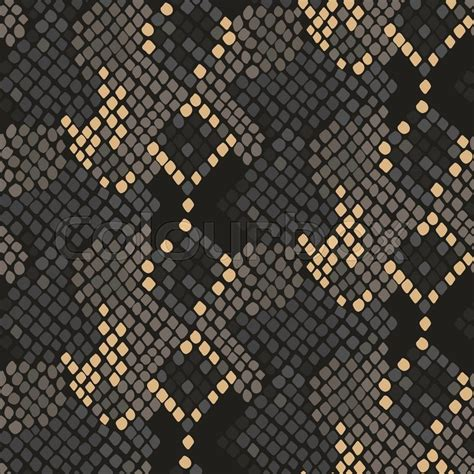 snake skin seamless vector texture brown tone colors