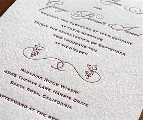 customizing letterpress wedding invitation cards choosing fonts for letterpress wedding