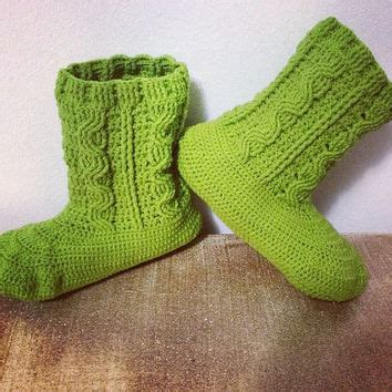 lime green slippers best s crochet booties products on wanelo