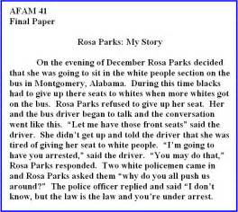Rosa Parks Biography Essay rosa parks my story quotes quotesgram