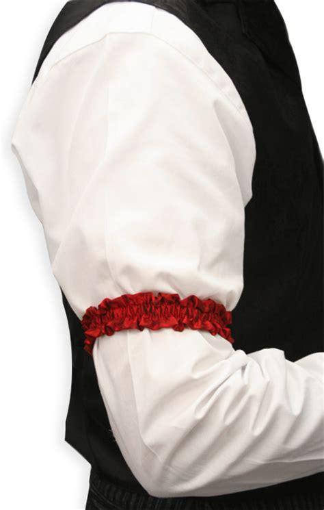 sleeve garter deluxe silk sleeve garters red one pair