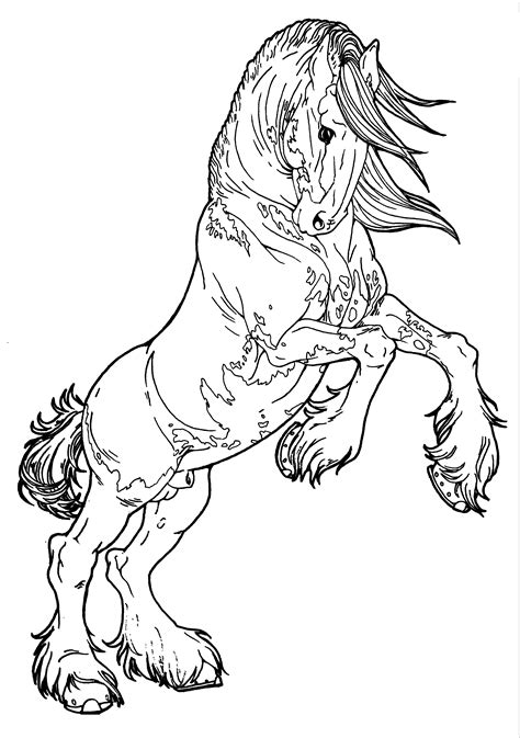 black and white coloring pages of horses patterned clydesdale by applehunter deviantart com on