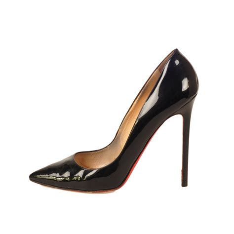black patent leather high heels christian louboutin black patent leather heels modsie