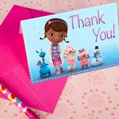 printable thank you cards for doctors doc mcstuffins thank you cards disney family
