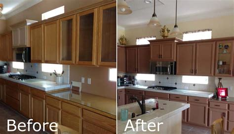 Stained Kitchen Cabinets Before And After Staining Kitchen Cabinets Before And After Pictures Cabinets Matttroy