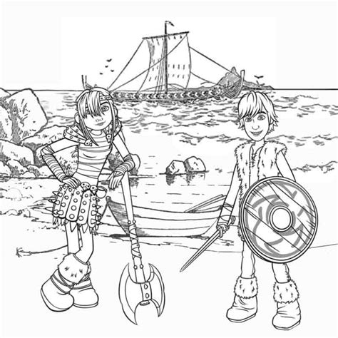 viking coloring pages for adults kids cartoon viking snotlout astrid and hiccup how to