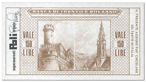 Banco Di Trento E Bolzano by Banca Di Trento E Bolzano Miniassegni Lire 50 100 150