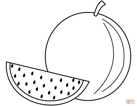 watermelon coloring page watermelon coloring page free printable coloring pages