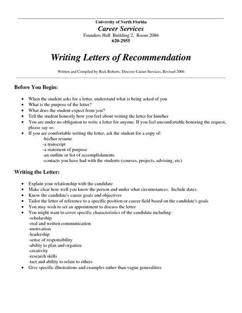 Recommendation Letter Template Employment Who Should Write A Letter Of Recommendation Best Template Collection