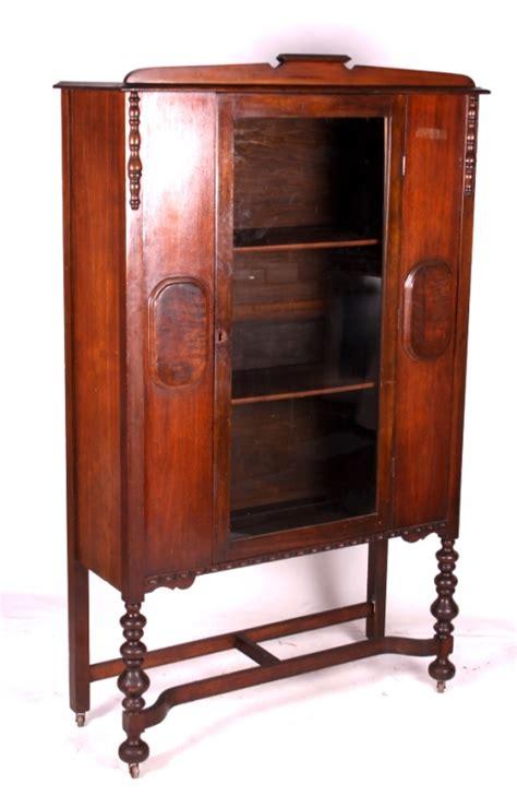 antique 1920 s walnut china cabinet