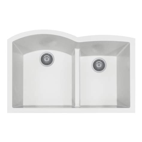 Houzer Kitchen Sink Houzer Quartztone Undermount Composite Granite 33 In Bowl Kitchen Sink In Midnite M 200u