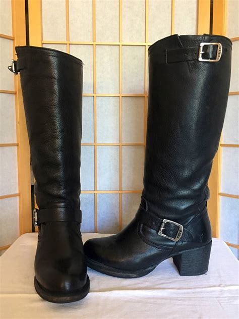 tall motorcycle riding boots frye vera tall harness black leather riding motorcycle boots