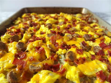 brown pizza hash brown breakfast pizza