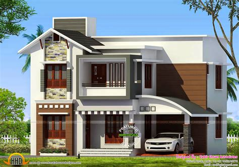 kerala home design duplex 3 bedroom duplex house design plans india