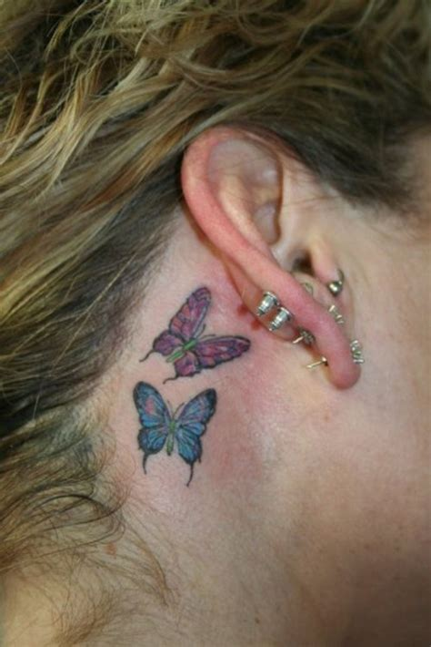 tattoo behind ear butterfly butterfly tattoos and designs page 505
