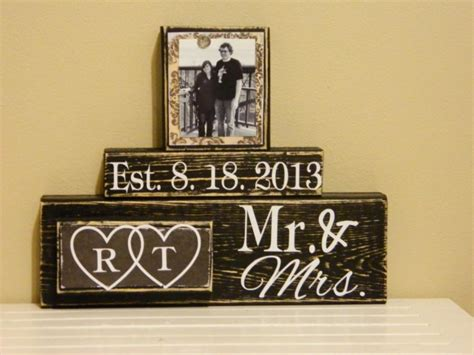 Personalised Engagement Decorations by Personalised Wedding Gifts Ideas Anniversary Gifts Bridal