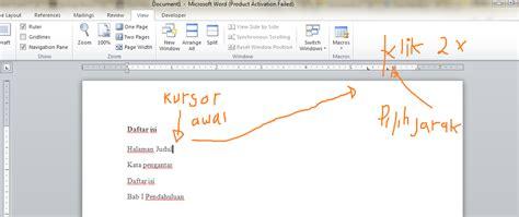 membuat daftar isi manual word 2010 cara membuat daftar isi manual dan otomatis pada ms word