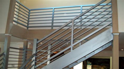Steel Banister Rails minimalist awesome design of the banister rails metal that has grey color can be applied inside