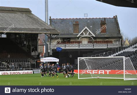 fulham craven cottage view on craven cottage during uefa europa league quarter