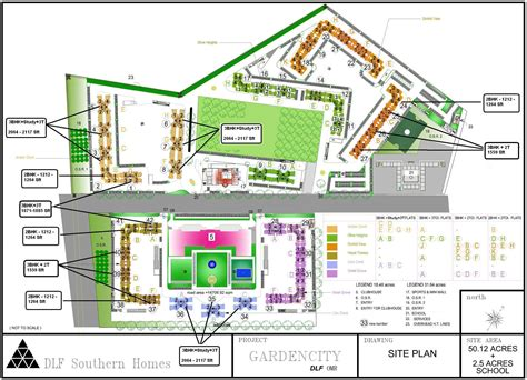 Layout Plan Of Garden City | 1212 sq ft 2 bhk 2t apartment for sale in dlf gardencity