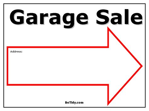 Garage Sale Template garage sale tips bedminster basking ridge list