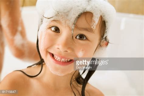 Japaneese Buble asian in bath stock photo getty images