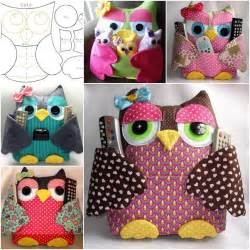 fabric templates fabulous fabric owl pillow free template and guide