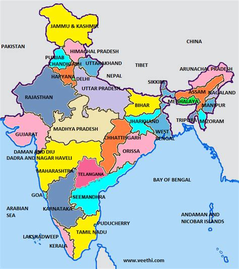 indian states geography of india map of india population of india by