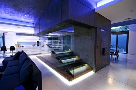 luxury  large contemporary house stairs  great