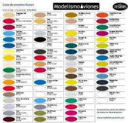 color chart testors modelling