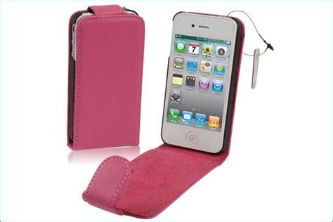 fundad iphone 4 funda piel para iphone 4 4s rosa