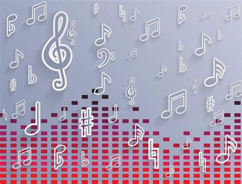 background design note elegant music note background vector set 03 over