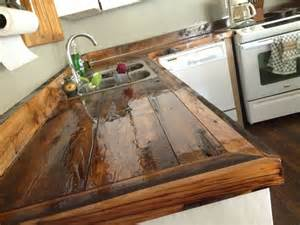 diy countertops wood rustic kitchen pinterest wood