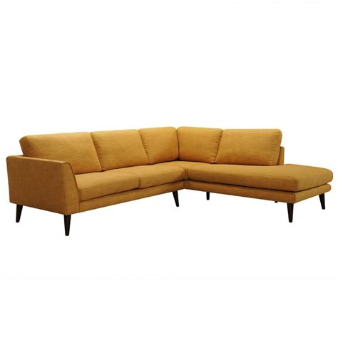 gold sectional 2 piece drew modern gold fabric sectional