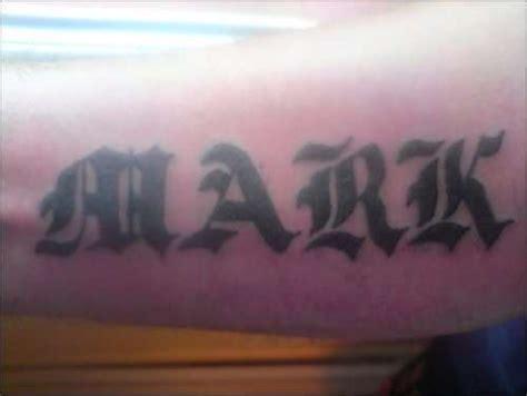 tattoo name mark name old english mark tattoo