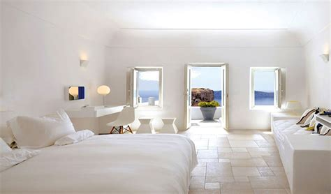 all white rooms grace santorini luxury hotel greece