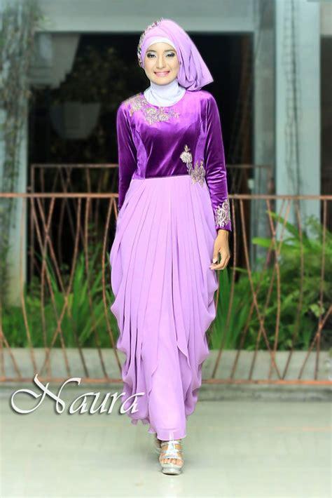 Kaftan White Bordir Warna gamis pesta keluarga warna ungu yang elegan terbaru persembahan naura http gamispesta net